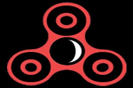 Fidget Spinner Moon Defender